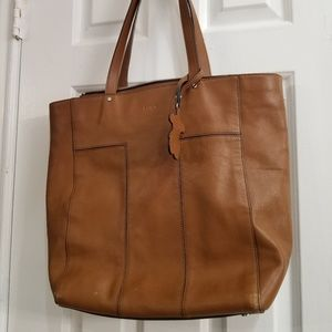 Tous Tan Leather Tote Bag